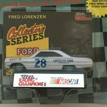 Racing Champions Fred Lorenzen #28 Nascar Stock Car Toy 1991 Ford Fastbacks - $9.00