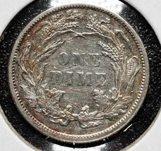 1883 Silver Seated Dime 10¢ Coin Lot# A 588 image 2