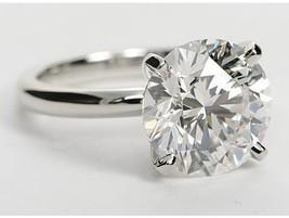 Charles and Colvard Forever One Moissanite Solitaire Ring 14K White Gold - $613.52+