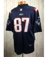 New England Patriots Nike NFL Football Jersey #87 Rob Gronkowski Size La... - $32.68