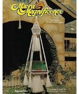 Rare Vintage 1976 Macra Magnificence Macrame Book w/ Hanging Table Patte... - $19.79