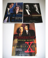 The X-Files Lot of 3 Official Guide Books Lowry Meisler - $15.00