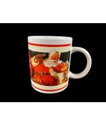 2001 Coca Cola Santa Eating And Drinking Coffee Mug - $6.26