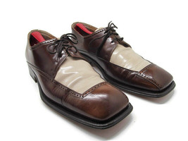 Oliver Mens Brown And Tan Leather Derbys Size US 12 M Quality Made In It... - $57.23