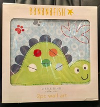 Bananafish Little Dino Canvas Set of 2 Green Bl... - $28.04