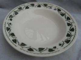 2 HOMER LAUGHLIN SYLVAN Rim Soup Bowls GREEN IVY LEAVES BRITTANY RARE - $13.45