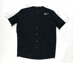 New Nike Boys Medium Youth Baseball Softball Practice Jersey Shirt Black... - $10.29
