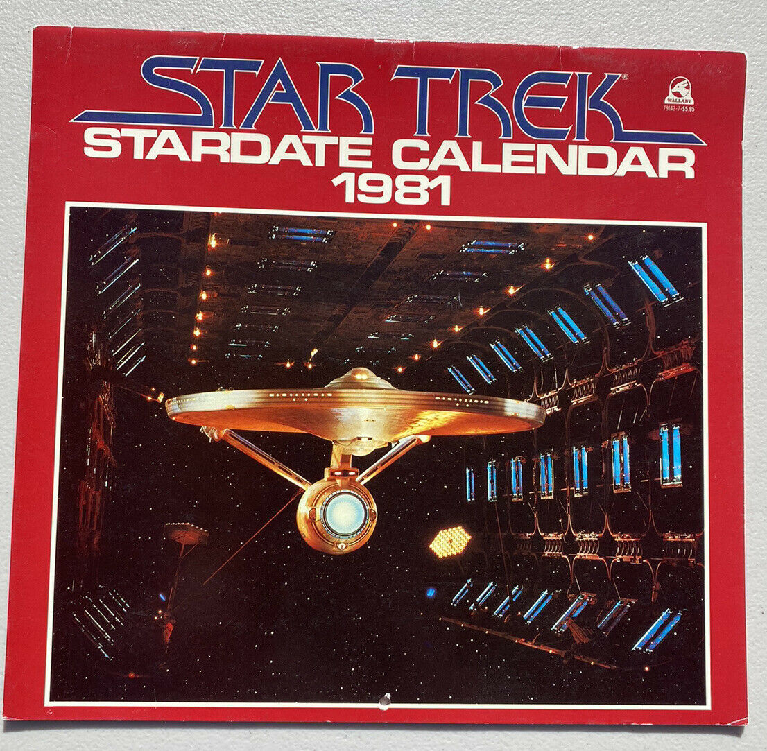 Primary image for 1981 Star Trek Calendar Pocket Books Wall Hanging - Unused