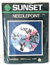 Sunset Designs Needlepoint Kit 6414 Hummingbirds Cherry Blossoms Embroid... - $14.53
