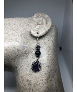 Vintage Genuine Mystic Topaz Amethyst Chandelier 925 Lever Back Earrings - $84.14