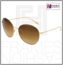OLIVER PEOPLES BLONDELL 1102 Gold Titanium Brown Beige Polarized Sunglass 1102ST image 9