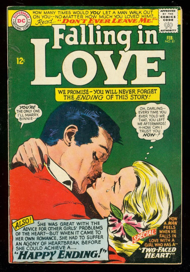 FALLING IN LOVE #81 1966-DC ROMANCE COMICS-GLOSSY COVER FN