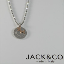 COLLANA A PALLINE IN ARGENTO 925 JACK&CO CON CANE JACK IN ORO ROSA 9KT JCN0549  image 1