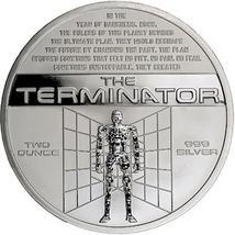 Terminator T-800 2 Oz .999 Silver Proof Round With COA & Individually Numbered image 4