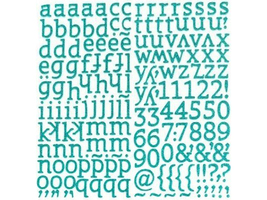 """American Crafts Thickers Glitter Foam Letter Stickers in """"Sunny"""" image 2"""