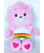 "Care Bear Cheer Bear Pink Rainbow 2012 Hasbro Plush Stuffed Animal 13.5"" - $15.76"