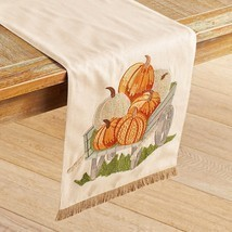 NWT Pier 1  pumpkin in wagon table runner 72 length - $38.61