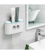 Automatic Toothpaste Dispenser Washing Toothbrush Holder Cup Wall Mount ... - $34.40