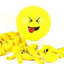 100 Pack - New Latex Smiley Emoji Face Balloons For Wedding Birthday  - $23.58