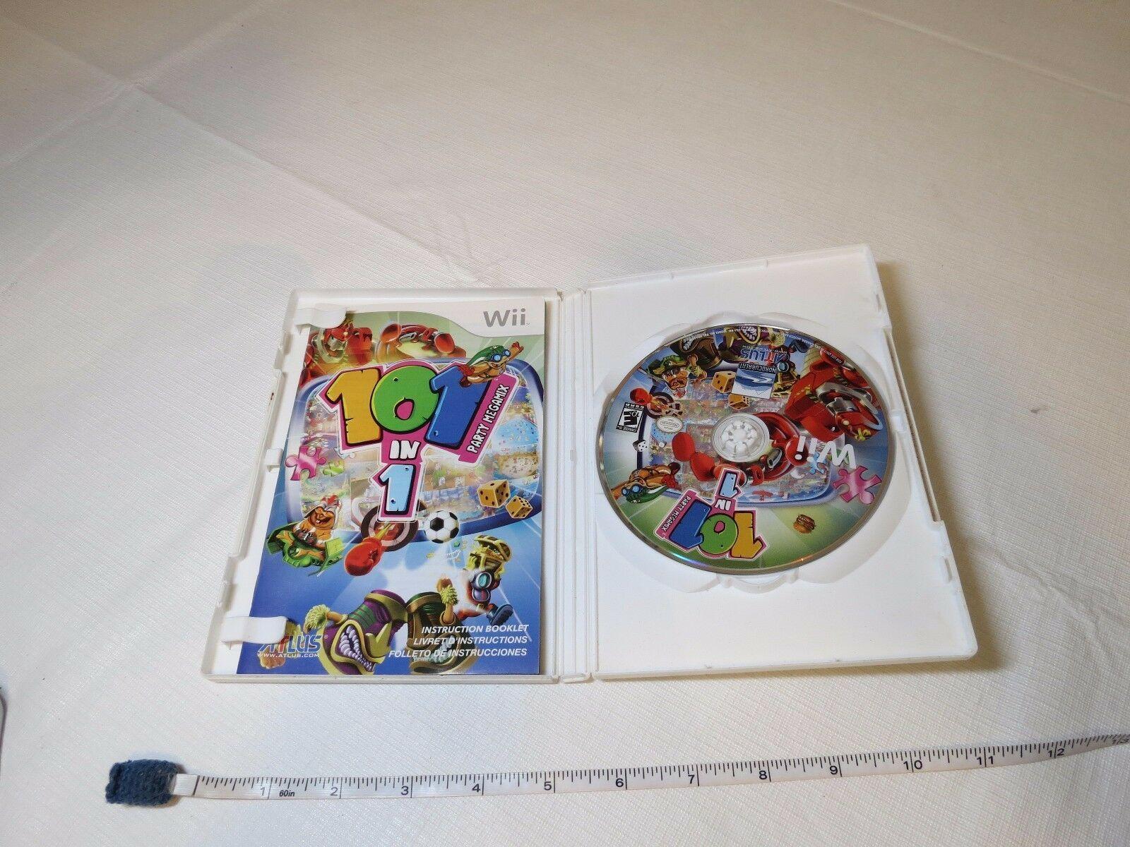 101-in-1 Fiesta Megamix (Nintendo Wii, 2009) Marcas Videojuego Todos Esrb Atlus