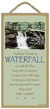 Advice From a Waterfall Wood Plaque- Officially Licensed From Your True ... - $14.99