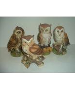 3 Andrea Sadek Great Horned Barn Short Eared + 1 Lefton Owl - $34.99