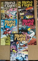 Alpha Flight #61 62 63 64 66 Marvel Comic Book Lot 1989 NM 9.0 Condition... - $20.92