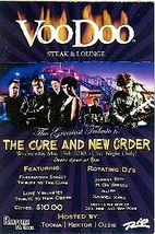 The Cure and New Order Las Vegas Promo Card - $1.95
