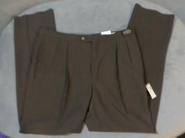 Sansabelt 52 Cloth Pleated Pants Vintage Brown Slacks 40 Reg - $20.31
