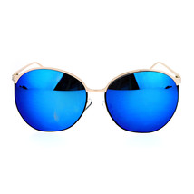 Womens Sunglasses Oversized Irregular Round Metal Frame Mirror Lens - $10.75