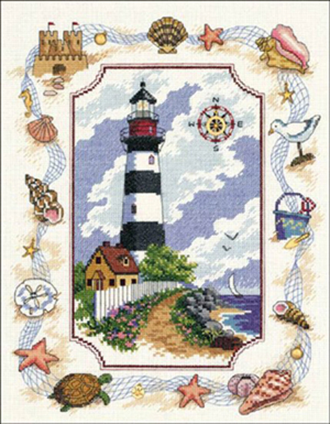 Primary image for Light House Portrait Cross Stitch Pattern***LOOK***