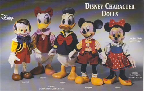 Disney  Anri Wood Carving Brochure 7 pages with information  supplements