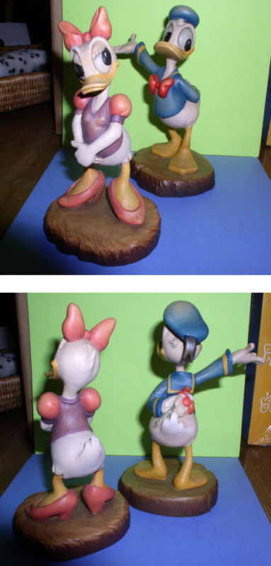 Primary image for Disney Anri Wood Carving Daisy & Donald Duck B/O