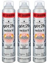 3 Pk Schwarzkopf got2b Rockin' It 4Ever StyleStay Encore Fresh Dry Shampoo 4.3oz - $19.79