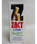 90g ZACT LION TOOTHPASTE FOR SMOKERS REDUCES TOBACCO STAINS & TEETH FRES... - $7.99