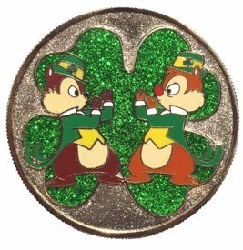 Disney Chip 'n' DaleSt. box/fight Patrick 's Day 2007 Mystery LE pin/pins