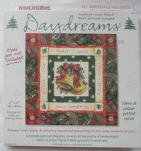 "Dimensions Counted Cross Stitch Daydreams Christmas Bells Kit 8"" x 8"" - $15.99"