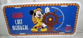 Disney  Cruise Line CM Mickey Helm Lic Plate Ship World - $19.14