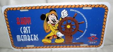 Disney  Cruise Line CM Mickey Helm Lic Plate Ship World