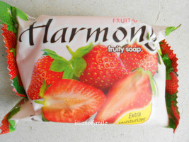 Harmony Fruity Soap Extra Moisturizer Enriched Natural Strawberry Extract 75g. - $4.99