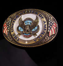 1986 Eagle BUCKLE / United States of America / flag buckle / biker gift ... - $85.00