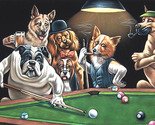 Dogs playing pool cross stitch pattern thumb155 crop