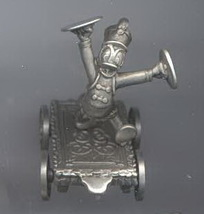 Disney Donald cymbals marching band train car Pewter Figurine made in USA - $40.25