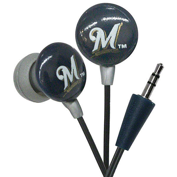 MILWAUKEE BREWERS EAR BUDS works with  iPod i Phone iHip Mp3 EARPHONES