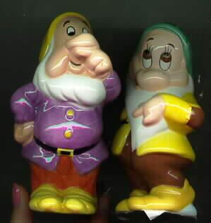 Disney Dwarfs from Snow White & the 7 Dwarfs Salt & Pepper