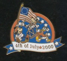 Disney Goofy Donald Mickey WDW LE  Fife and Drum July 4th Patriotic pin - $22.86