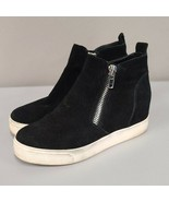 Steve Madden black Wedgie High Top Platform Sneaker size 6.5 Leather Sue... - $42.90