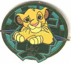 Disney Lion King Simba LEO POTM LE retired Pin/Pins