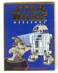 Primary image for Disney MGM Star Wars Weekend Sorcerer Mickey   Pin/Pins