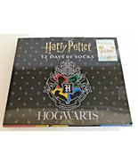 NEW WB AUTHENTIC HARRY POTTER HOGWARTS 12 DAYS OF SOCKS COLLECTIBLE GIFT... - $39.59